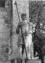 Надгробие крестоносца на юге Франции