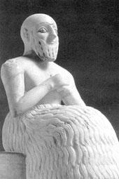 Эбих-иль, управляющий храма богини Иштар. Мари. Около 2 400 г. до н.э.