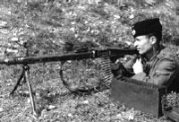 Казак-пулемётчик власовской армии