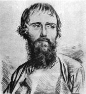 Крестьянин. Литография П.Барбье. 1820-егг.