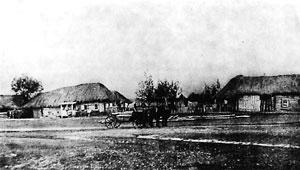 Улица села Спасского. Фото В.Каррика. 1883г.