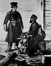 Крестьянин-отходник. С картины В.Е.Маковского