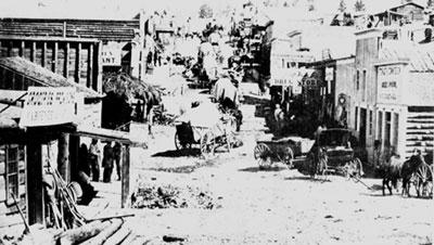Посёлок старателей в западных штатах США. Фото 1865 г.