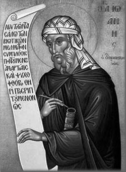 Преподобный Иоанн Дамаскин. Икона