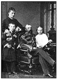 Княгиня Е.М.Юрьевская в кругу семьи